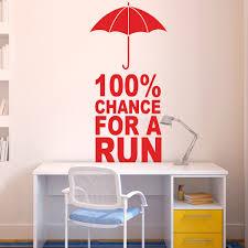 100 chance for a run goneforarungraphix wall decal running