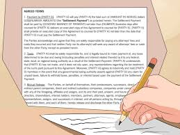 accident settlement letter template how to write a settlement agreement with pictures wikihow