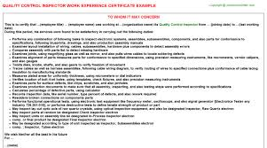 Quality Control Inspector Resume Sample by Quality Control Inspector Cover Letter