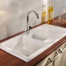 White Ceramic Kitchen Sink 1 5 Bowl Rak Ceramics New Gourmet Sink 1 Reversible 1 5 Bowl White Ceramic