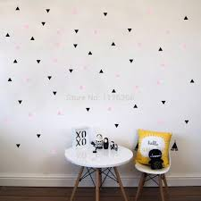 online buy wholesale round wall stickers from china round wall decorative art murals diy stars triangles round circles vinyl wall stickers decals for bedroom living room