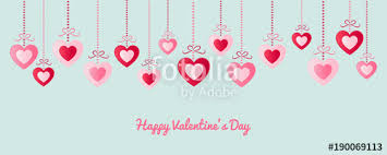 happy valentines day banner happy s day banner with paper cut hearts and wishes