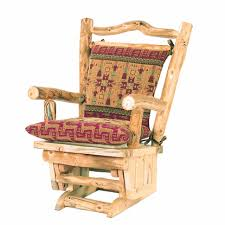 glider rocker with ottoman mountain woods log furniture aspen glider rocker ottoman