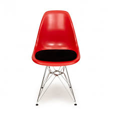 charles eames eames style red dsr eiffel chair with black legs