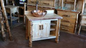 Furniture For Bathroom Vanity Bathroom Vanities Aspen Log And Beetle Kill Pine Furniture