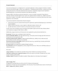Resume Personal Statement Sample by Sample Personal Statement For Medical 7 Examples In Pdf
