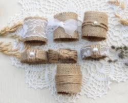 burlap wedding decorations burlap wedding napkin rings rustic wedding decor rustic