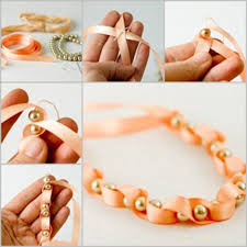handmade bracelet with beads images How to make handmade pendants of beads and ribbons diy is fun jpg