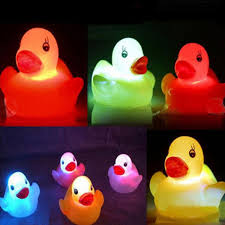 tub light flashing lovely baby different color changing light bath toy little duck with