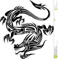 tribal chinese dragon tattoos tribal dragon tattoo stock vector image 59606612