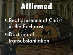 Council Of Trent Decree On The Eucharist Council Of Trent By Christine Mcdonald