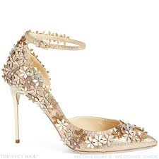 jimmy choo shoes wedding wednesday s wedding shoe lorelai floral heels by jimmy choo