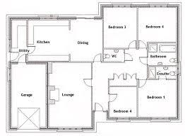 Beautiful 4 Bedroom House Plans Download 4 Bedroom Bungalow Floor Plan Waterfaucets
