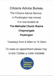 citizens advice bureau citizens advice bureau pocklington town council