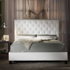 King Size Tufted Headboard Bed Frames Faux Leather Tufted Headboard Black White How To