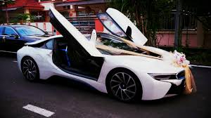 bmw i8 gold redorca malaysia wedding and event car rental bmw i8 wedding car