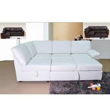 Leather Corner Sofa Bed White Leather Corner Sofa Bed Brokeasshome Com