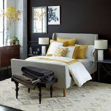 Bedroom Wall Padding Uk Upholstered Sleigh Bed West Elm Uk