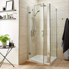 Shower Door 720mm Primrose 6mm Frameless Hinged Shower Door Optional Side Panel
