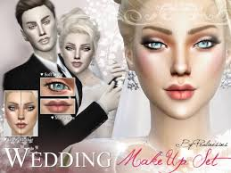 bridal makeup sets the sims resource wedding makeup set by pralinesims sims 4