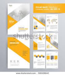 abstract vector business template set brochure imagem vetorial de