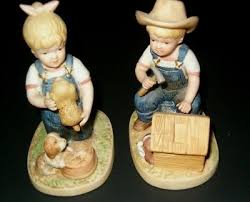 home interiors figurines home interiors homco denim days collection figurines reference