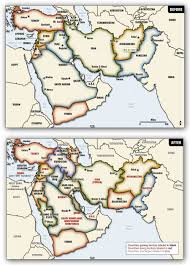 Map Of The Middle East by Redrawing Borders Of The Middle East The Cyber Daily