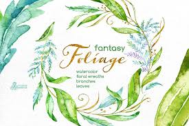 Foliage Flower - fantasy foliage floral collection illustrations creative market
