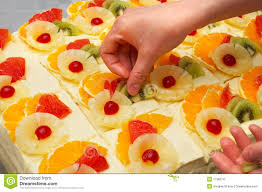 fruit decorations decorating the fruit cakes stock photo image of meal 1736274