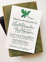 kris lowell u0027s st patrick u0027s day wedding invitations