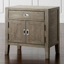 Dark Grey Nightstand Nightstands And Bedside Tables Crate And Barrel