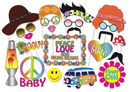 printable hippie photo booth props hippie party photo booth props set 24 piece printable 60s