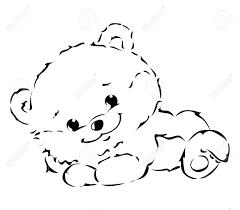 black bear drawing outline