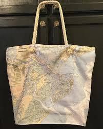 nautical tote custom nautical chart tote s
