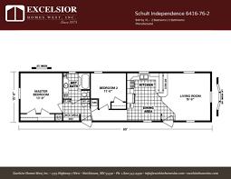 schult floor plans schult independence 6416 76 2 excelsior homes west inc
