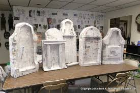 tombstone decorations how to chunky tombstones stolloween