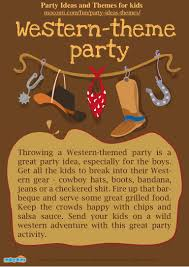 Western Themed Party Ideas Western Theme Party For Kids U2013 Mocomi Com