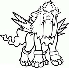 coloring pages marvelous pokemon coloring pages entei legendary