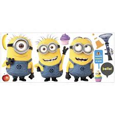 Wall Decals Amazon by Roommates Rmk2081gm Despicable Me 2 Minions Giant Peel And Stick