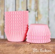 mini light pink cupcake liners mini pastel pink cupcake