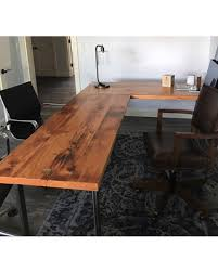 L Shaped Desks For Sale Sale Lshaped Desk Reclaimed Wood Desk Wood And Steel Desk