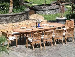 Patio Stack Chairs by 11 Piece Grade A Teak Dining Set Large Oval Table And Stacking