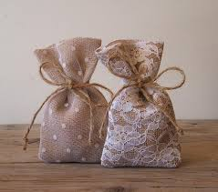 tulle bags favor bags burlap with lace and patterned tulle overlays