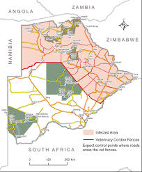 Namibia Map Veterinary Fences In Namibia And Botswana Tracks4africa Blog