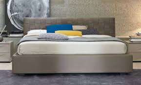 sma mobili lido leather ottoman storage bed modern italian design
