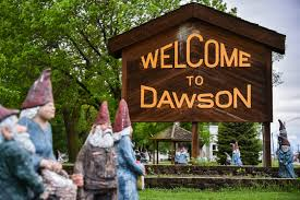 in a small minn town that went for trump a muslim doctor tries wooden gnome statues surround the