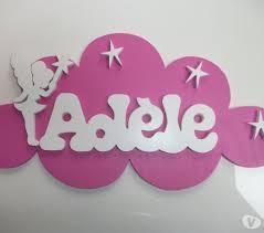 plaque de porte chambre plaque porte chambre prénom bois nuage fée décoration enfant