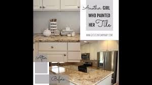 Kitchen With Tile Backsplash Another Who Painted Tile How To Paint Kitchen Tile