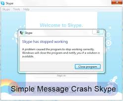 crash friend s skpye with a single message