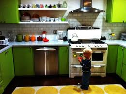 painted small kitchen design color green white of small kitchen